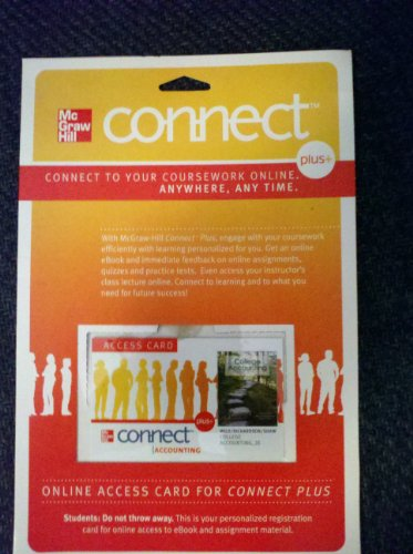 9780077268800: Connect access code card to accompany Wild College Accounting 2e