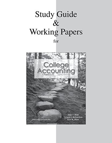 9780077268855: Study Guide & Working Papers Ch 1-14 to accompany College Accounting