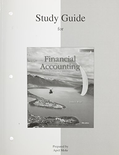 Study Guide to Accompany Financial Accounting: McGraw-Hill Staff