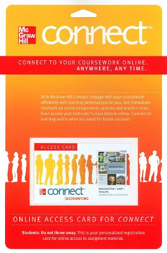 9780077269036: Connect Accounting Pass Card to accompany Managerial Accounting (McGraw Hill Connect (Access Codes))