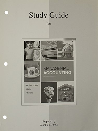 9780077269074: Study Guide/Workbook to accompany Managerial Accounting