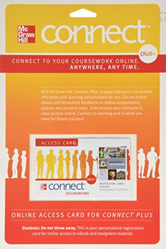 9780077269081: Connect Accounting Plus Card to accompany Managerial Accounting (McGraw Hill Connect (Access Codes))