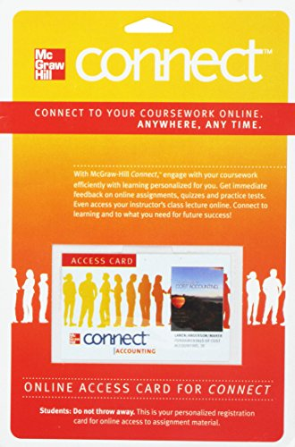 9780077269197: Connect Access Card for Fundamentals of Cost Accounting (McGraw Hill Connect (Access Codes))