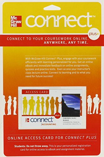 9780077269807: Connect Plus Access Card for Fundamental Financial Accounting Concepts
