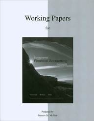 9780077269869: Working Papers to accompany Fundamental Financial Accounting Concepts