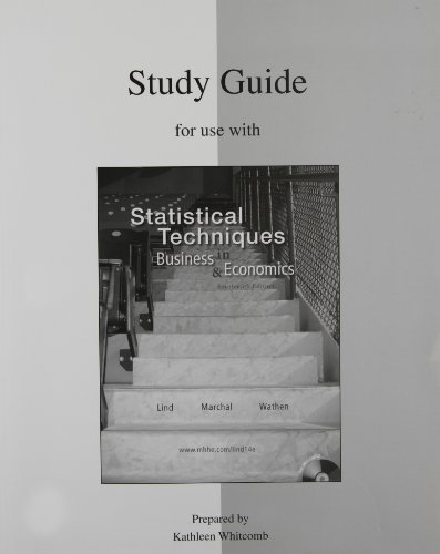 9780077270131: Study Guide to accompany Statistical Techniques in Business & Economics 14e