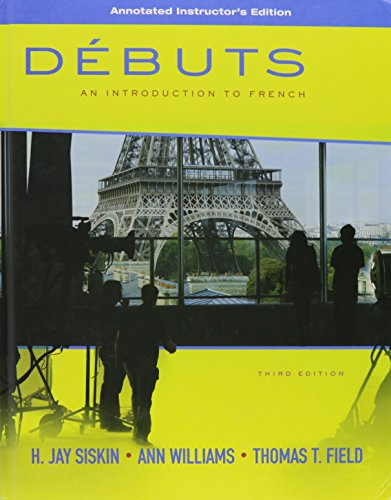 9780077272920: Debuts (An Introduction to French)