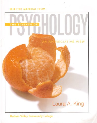 9780077276461: Selected Material from the Science of Psychology: An Appreciative View
