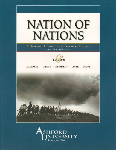 9780077279905: Nation of Nations: A Narrative History of the American Republic, Vol. 2: To 1865 (Chapters 17-32)