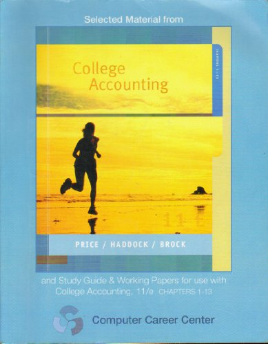 9780077280895: Selected Material From College Accounting (Computer Career Center)