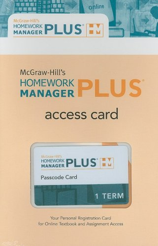 9780077281052: Connect Plus Code Card (McGraw-Hill's Homework Manager Plus)