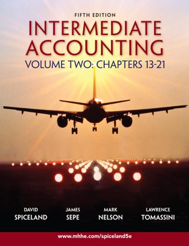 Intermediate Accounting Volume 2 Ch 13-21 w/Google: J. David Spiceland,
