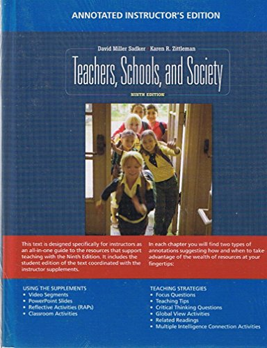 9780077287351: Teachers, Schools, and Society