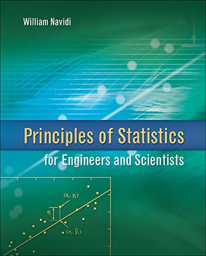 9780077289317: Principles of Statistics for Engineers and Scientists