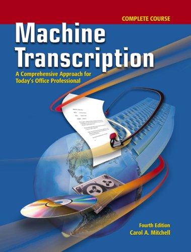 9780077290474: Machine Transcription Complete Course w/ student CD + Audio CD MP3 Format