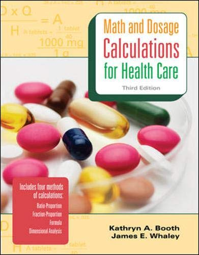 9780077290498: MP Math & Dosage Calculations for Health Care w/Student CD: MP Math & Dosage w/Student CD