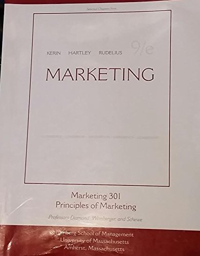 9780077290672: Marketing - 9th Ed. (Selected Chapters) - Umass Marketing 301