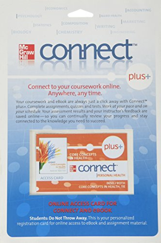 9780077291327: Connect Plus Personal Health Access Card for Core Concepts in Health