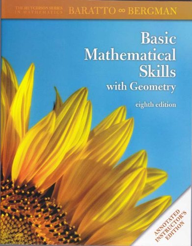 9780077292041: Basic Mathematical Skills with Geometry Eighth Edition Annotated Instructor's Edition