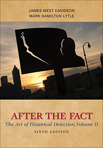 9780077292690: After the Fact: The Art of Historical Detection, Volume II