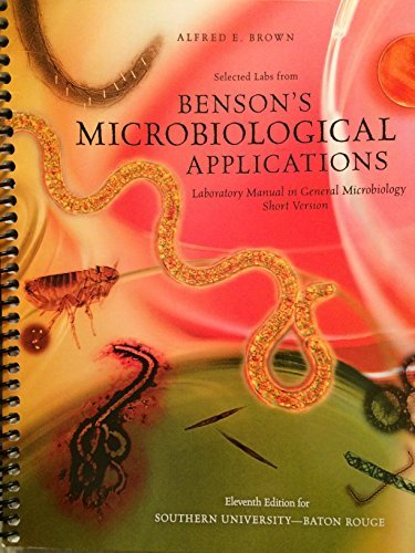 9780077293512: Benson's Microbiological Applications for Southern University- Baton Rouge
