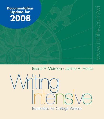 9780077293673: Writing Intensive 2008 MLA/APA/CSE Update with Catalyst 2.0
