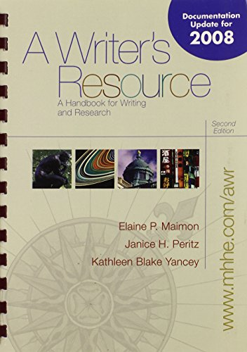 A Writer's Resource Update with Catalyst 2.0: Maimon,Elaine, Peritz,Janice, Yancey,Kathleen