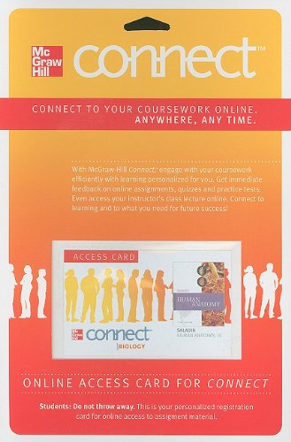 Connect Access Card for Human Anatomy with APR & PhILS Online Access (McGraw Hill Connect (...