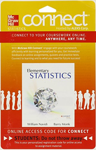 9780077295868: Connect Statistics Hosted by ALEKS 52 Week Access Card for Elementary Statistics