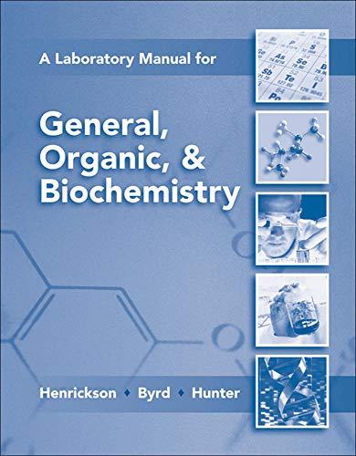 9780077296728: Lab Manual for General, Organic & Biochemistry