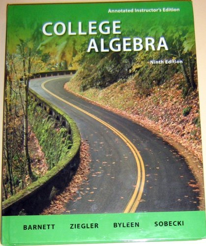 9780077297138: College Algebra, Annotated Instructor's Edition, 9th Edition