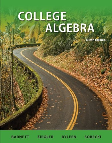 9780077297183: Student Solutions Manual College Algebra