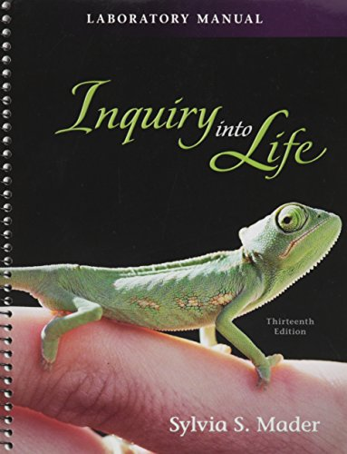Laboratory Manual for Inquiry into Life: Mader, Sylvia