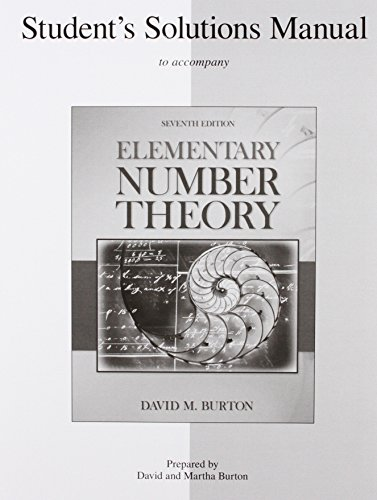 9780077298463: Student's Solutions Manual Elementary Number Theory
