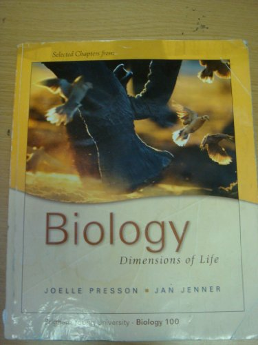 9780077300968: Biology: Dimensions of Life BYU Custom for Biology 100