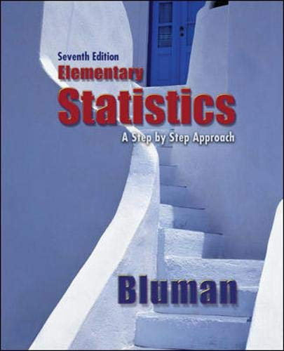 9780077302351: Elementary Statistics: A Step By Step Approach