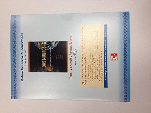 9780077304805: Dos Mundos En Breve Comunicacion y comunidad Online Cuaderno de Actividades Access Code