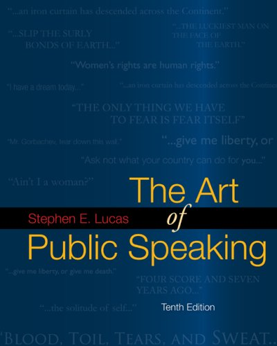 9780077306298: The Art of Public Speaking with Media Ops Setup ISBN Lucas