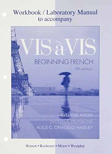 9780077309039: Workbook/Lab Manual to accompany Vis-à-vis: Beginning French