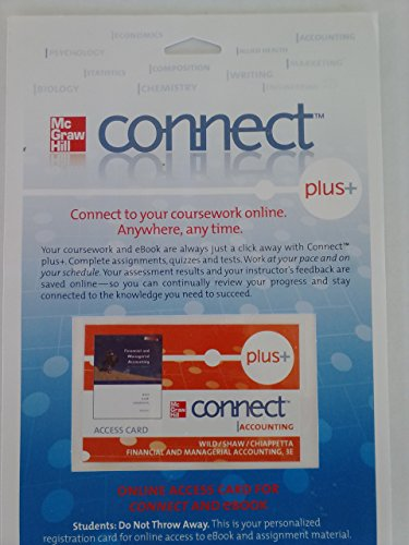 9780077309954: ConnectPlus card to accompany Financial and Managerial Accounting 3e