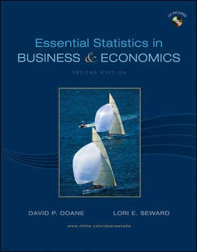 9780077312367: Essential Statistics in Business and Economics with Student CD (Mcgraw-Hill/Irwin Series Operations and Decision Sciences)