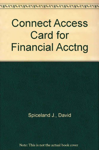 9780077315894: Financial Accounting Connect Access Card