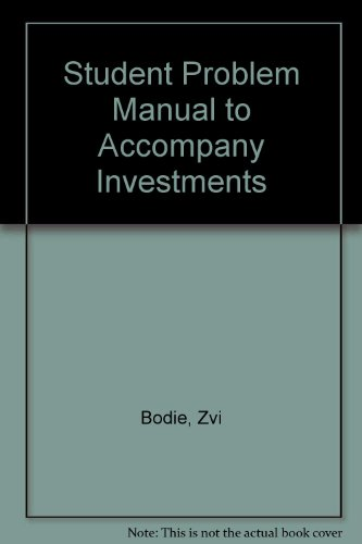 9780077316136: Student Problem Manual to accompany Investments