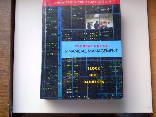 9780077316167: Annotated Instructor's Edition of Foundations of Financial Management