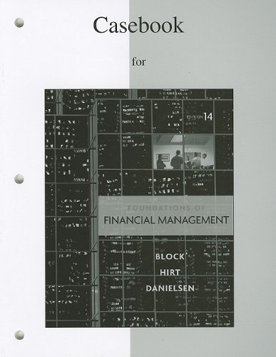 9780077316174: Casebook to accompany Foundations of Financial Management