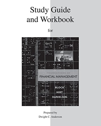 9780077316266: Foundations of Financial Management, Study Guide and Workbook