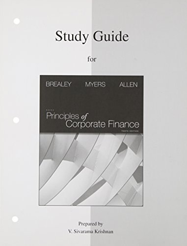 9780077316471: Study Guide to accompany Principles of Corp. Finance