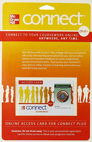 9780077317270: Connect Plus Economics 1 Semester Access Card for Microeconomics