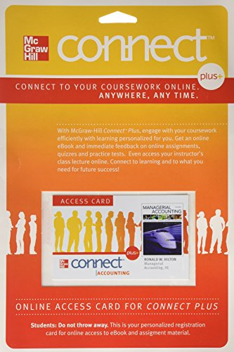 9780077317522: Connect Plus Access Card for Managerial Accounting