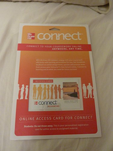 9780077317782: Connect Accounting with LearnSmart 1 Semester Access Card for Managerial Accounting